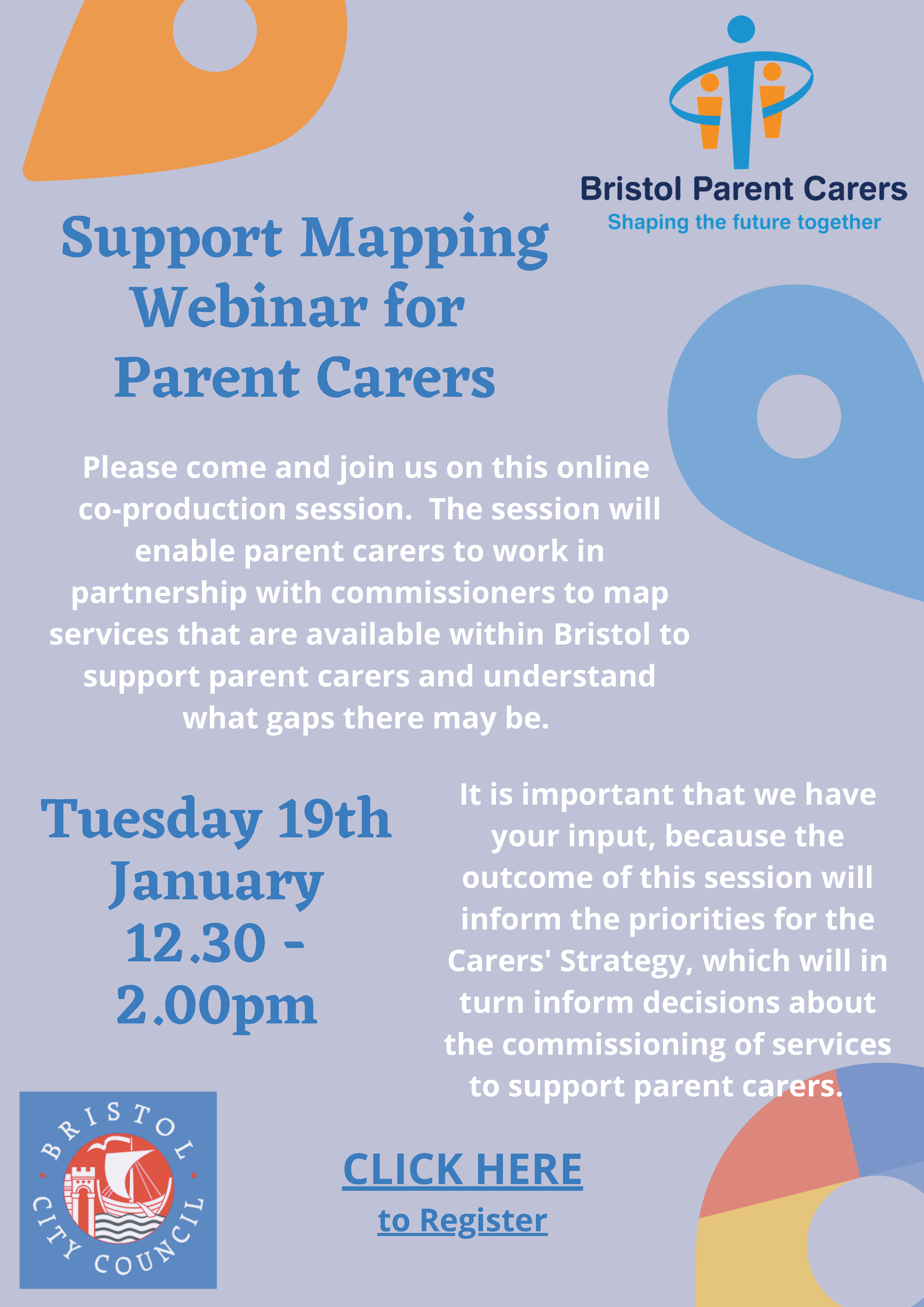 Bristol Parent Carers - Support Mapping Webinar for Parents Carers
