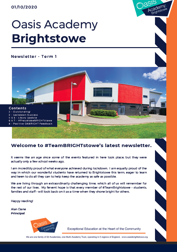 Welcome to #TeamBRIGHTstowe's latest newsletter
